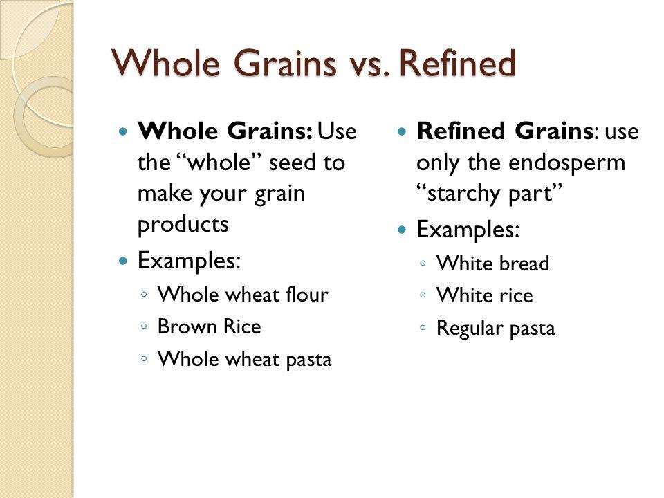 Whole Grains vs. Refined