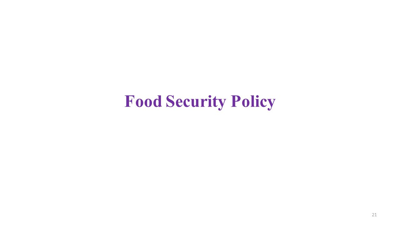 Food Security Policy