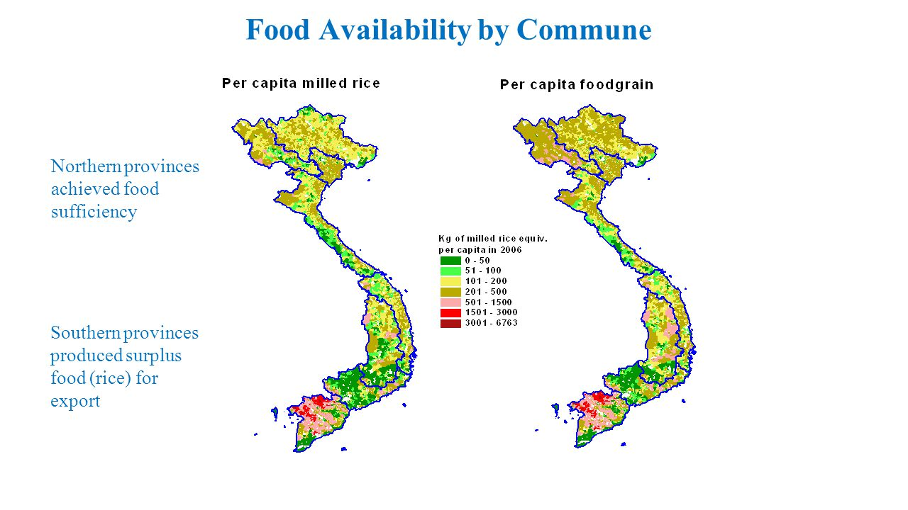 Food Availability by Commune