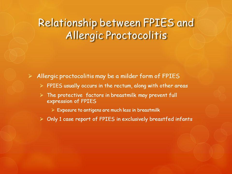 Relationship between FPIES and Allergic Proctocolitis