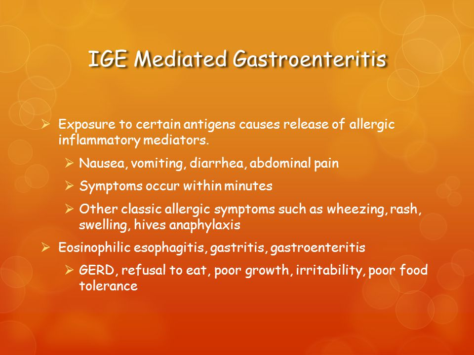 IGE Mediated Gastroenteritis