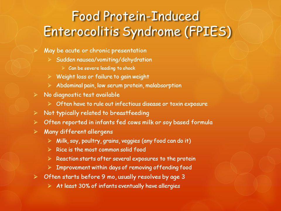 Food Protein-Induced Enterocolitis Syndrome (FPIES)