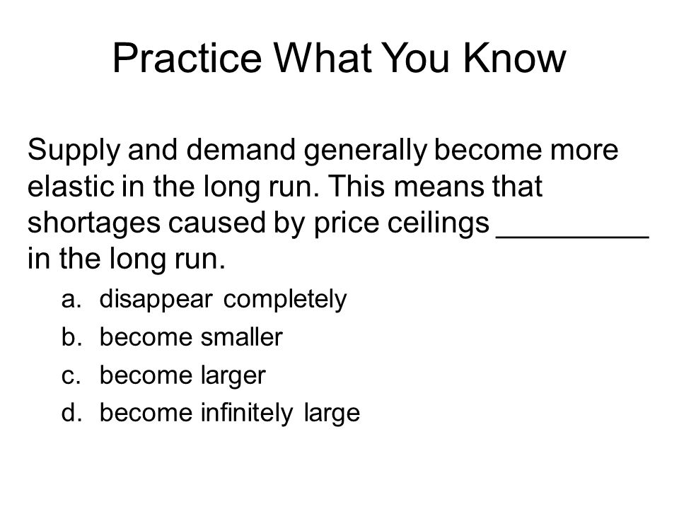 Practice What You Know