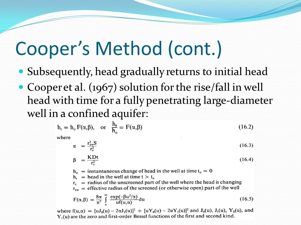 Cooper's Method (cont.)