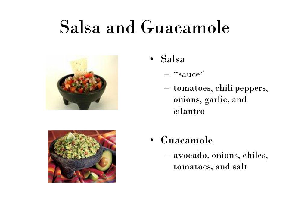 Salsa and Guacamole Salsa Guacamole sauce