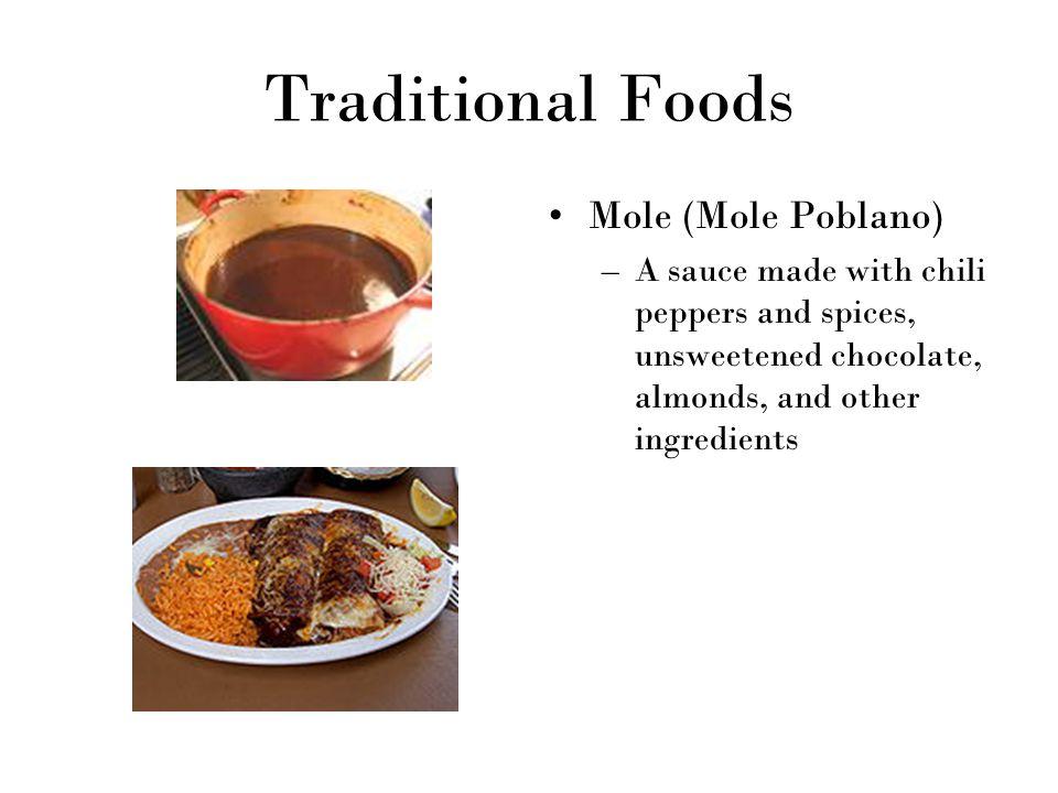 Traditional Foods Mole (Mole Poblano)