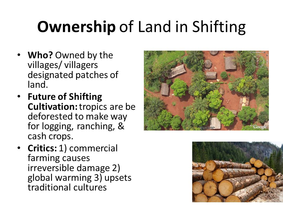 Ownership of Land in Shifting