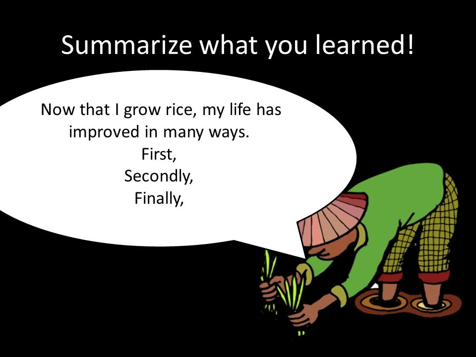 Summarize what you learned!