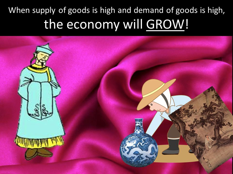 When supply of goods is high and demand of goods is high, the economy will GROW!