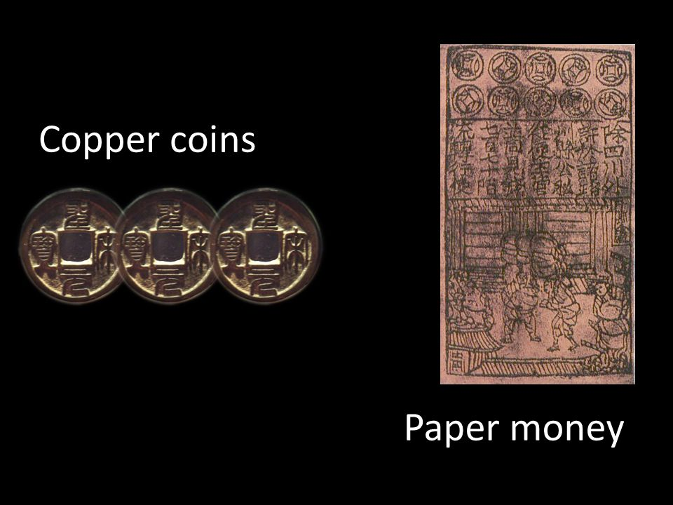 Copper coins Paper money