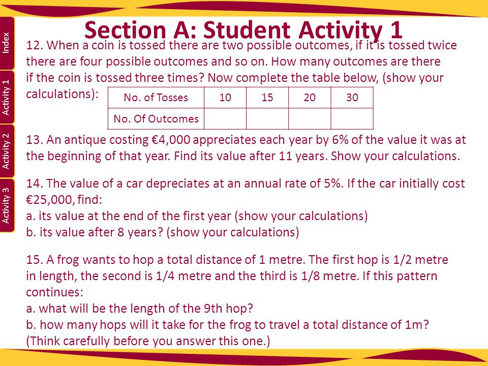 Section A: Student Activity 1