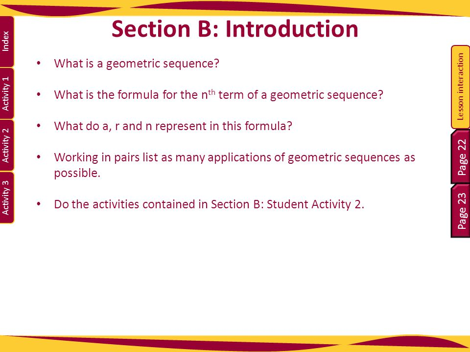 Section B: Introduction
