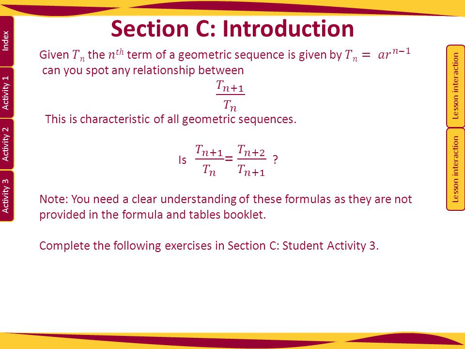 Section C: Introduction