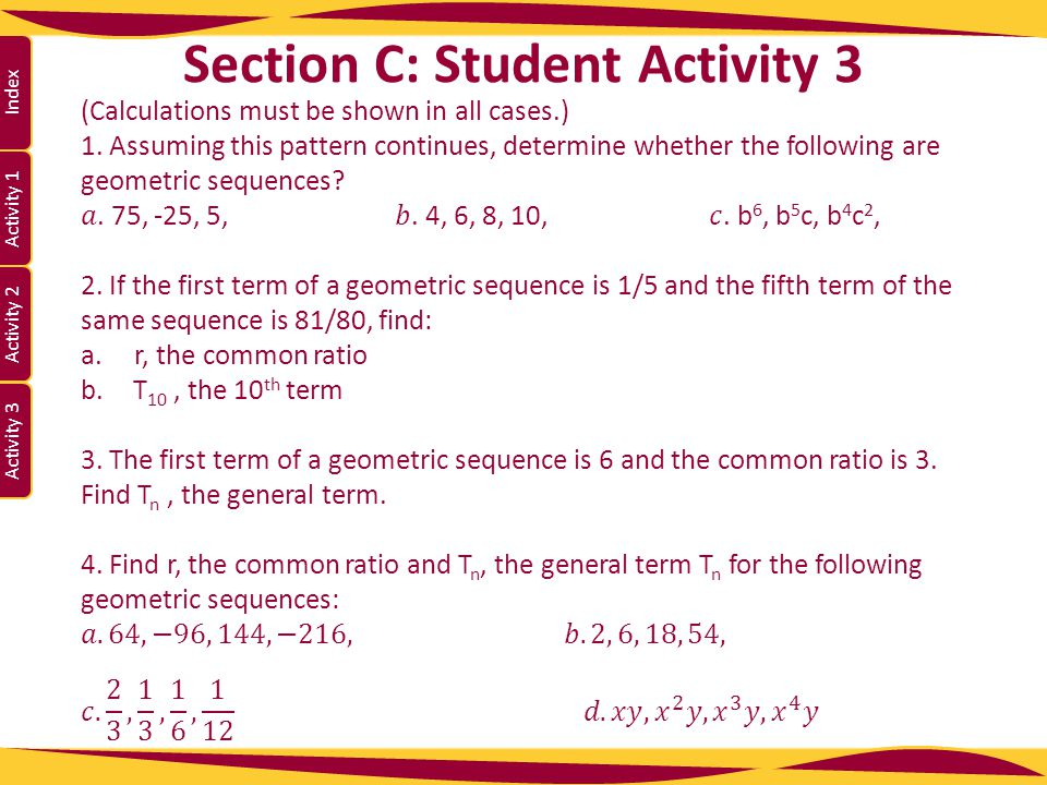 Section C: Student Activity 3