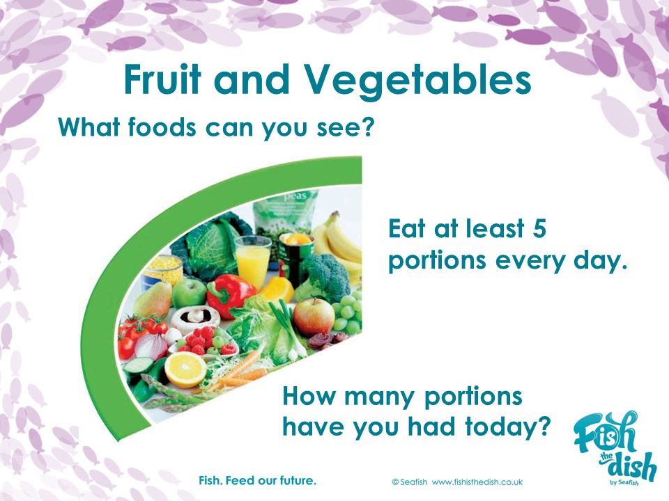 Fruit and Vegetables What foods can you see