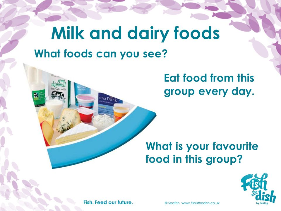 Milk and dairy foods What foods can you see