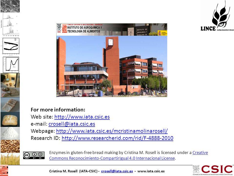 Web site: http://www.iata.csic.es e-mail: crosell@iata.csic.es