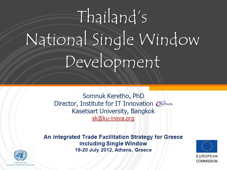 Thailand's National Single Window Development
