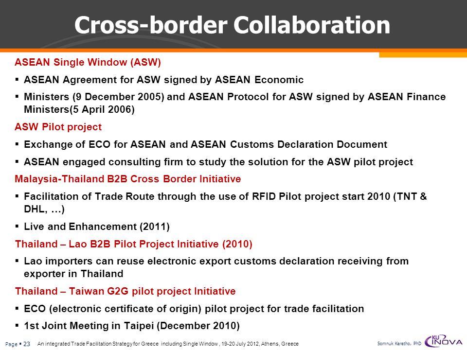 Cross-border Collaboration