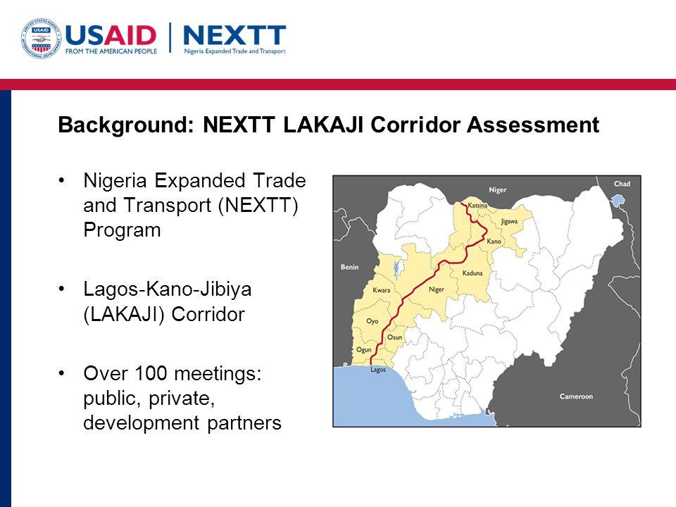 Background: NEXTT LAKAJI Corridor Assessment