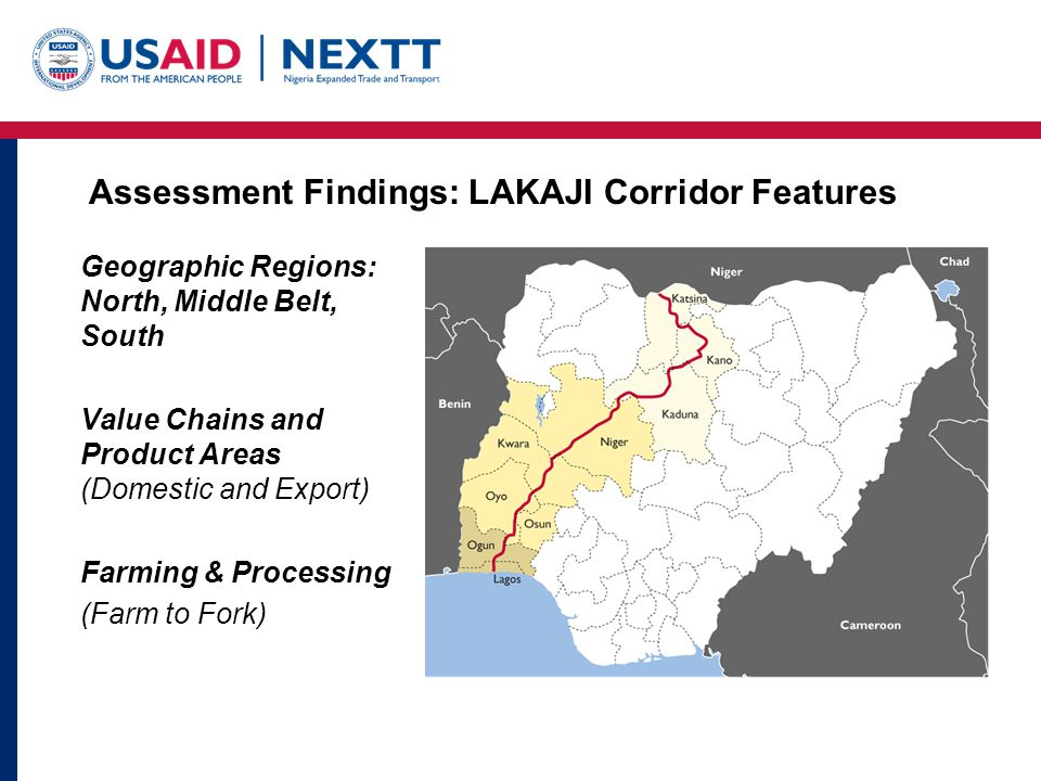 Assessment Findings: LAKAJI Corridor Features