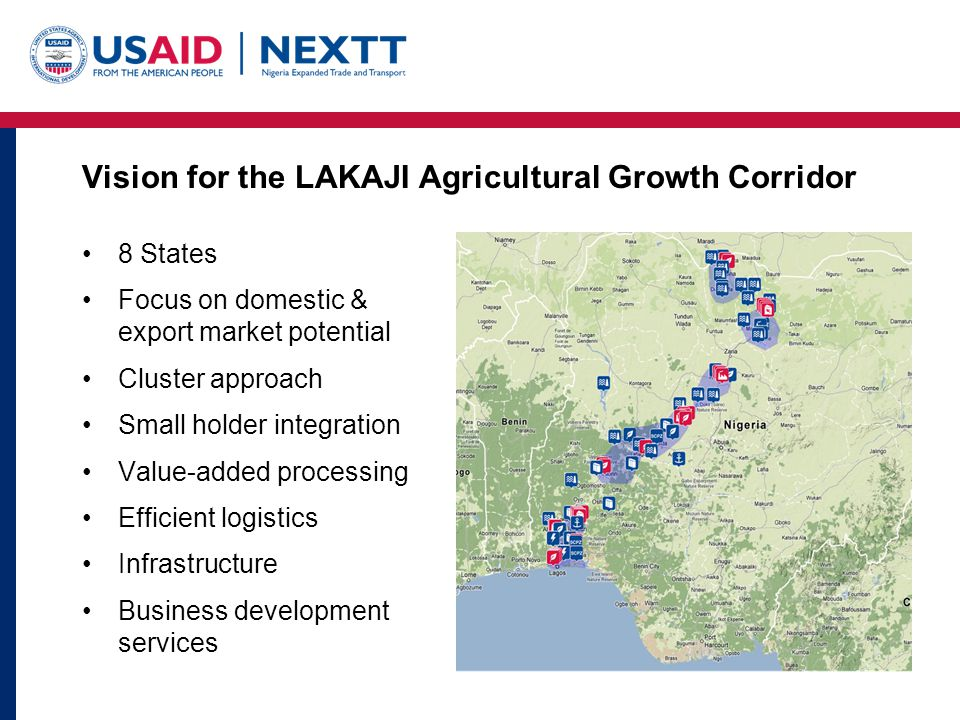 Vision for the LAKAJI Agricultural Growth Corridor