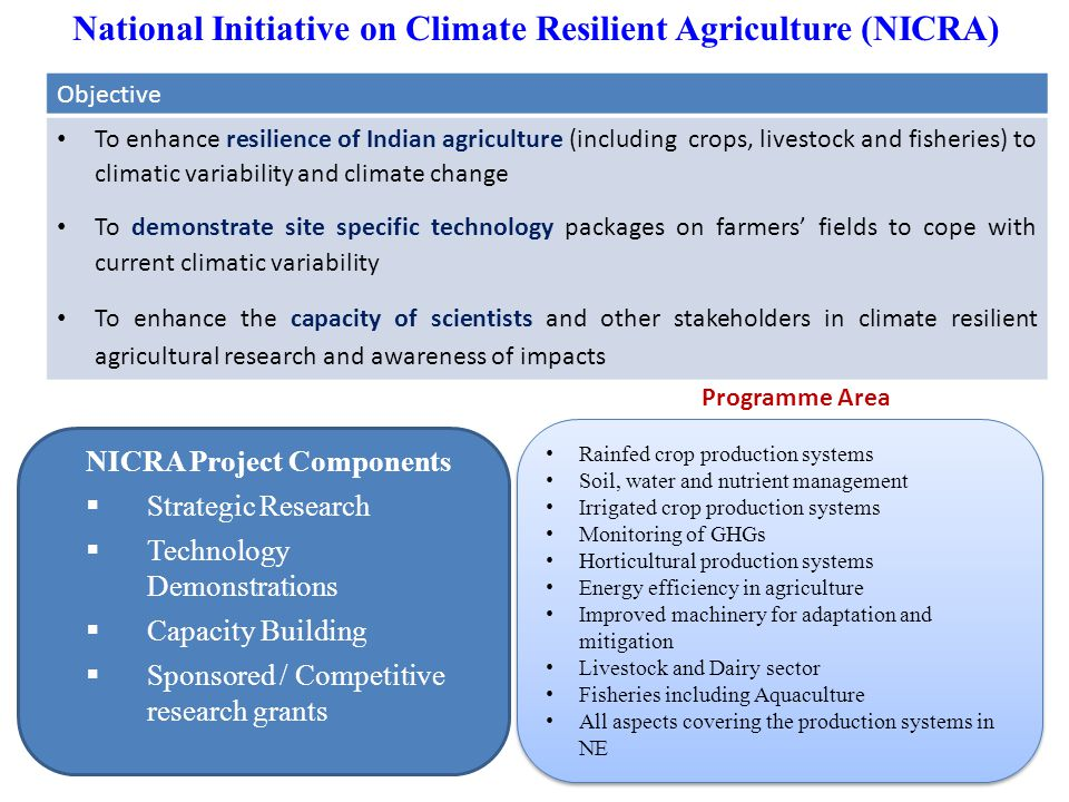 National Initiative on Climate Resilient Agriculture (NICRA)