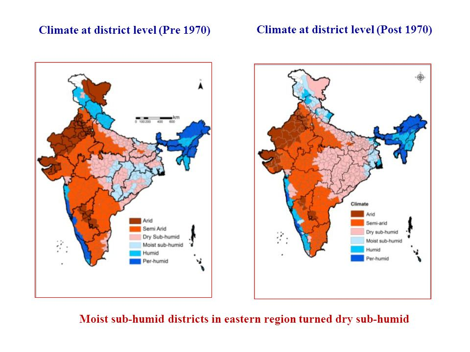 Climate at district level (Post 1970)
