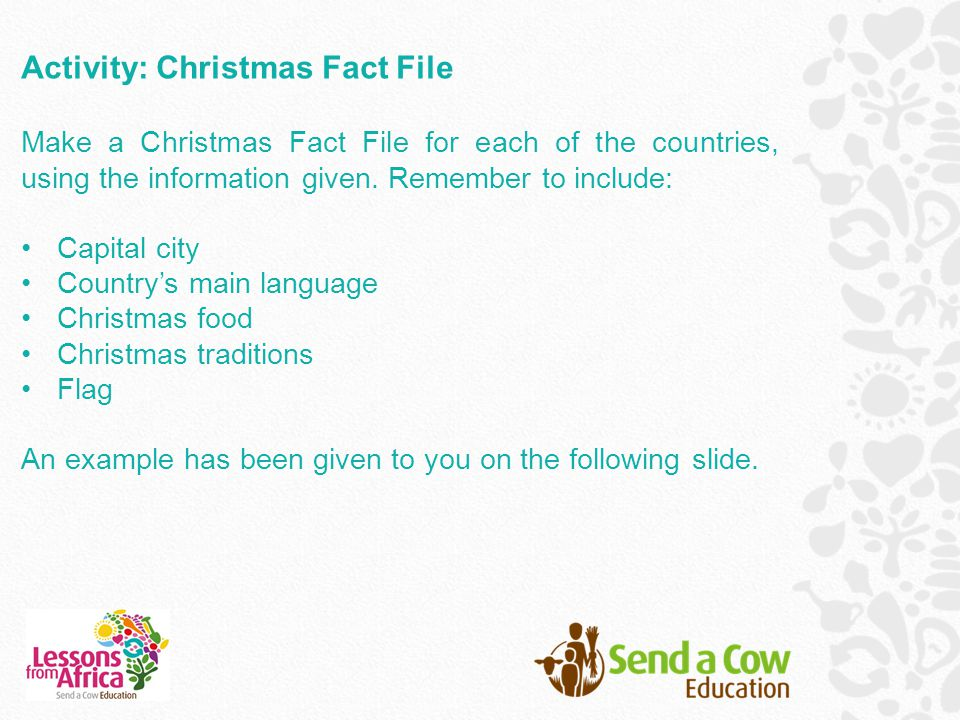 Activity: Christmas Fact File
