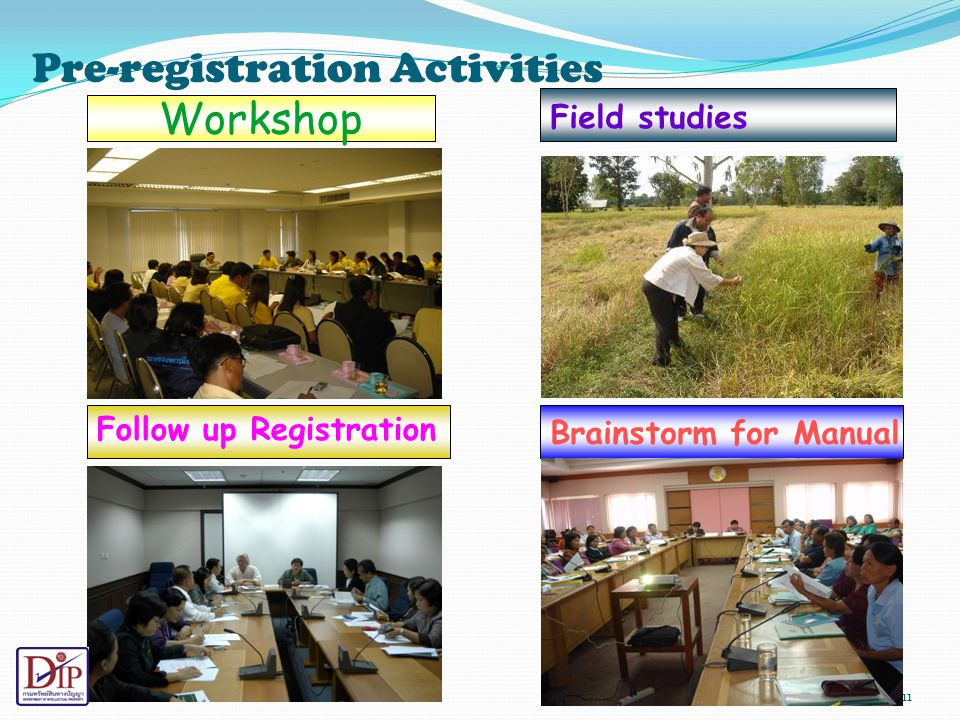 Pre-registration Activities