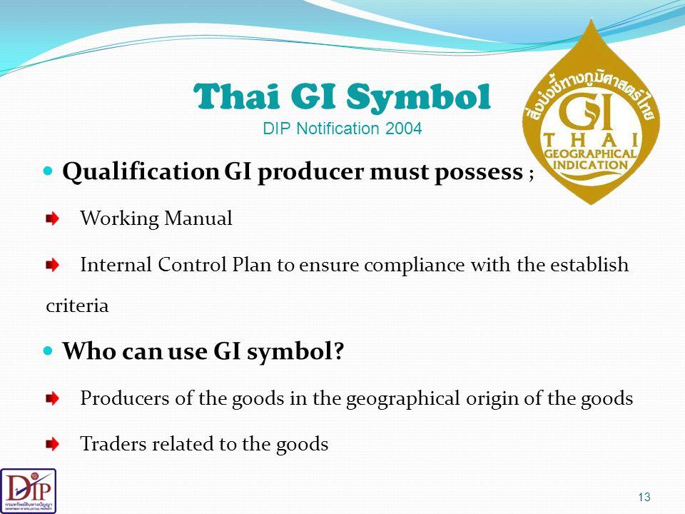 Thai GI Symbol DIP Notification 2004
