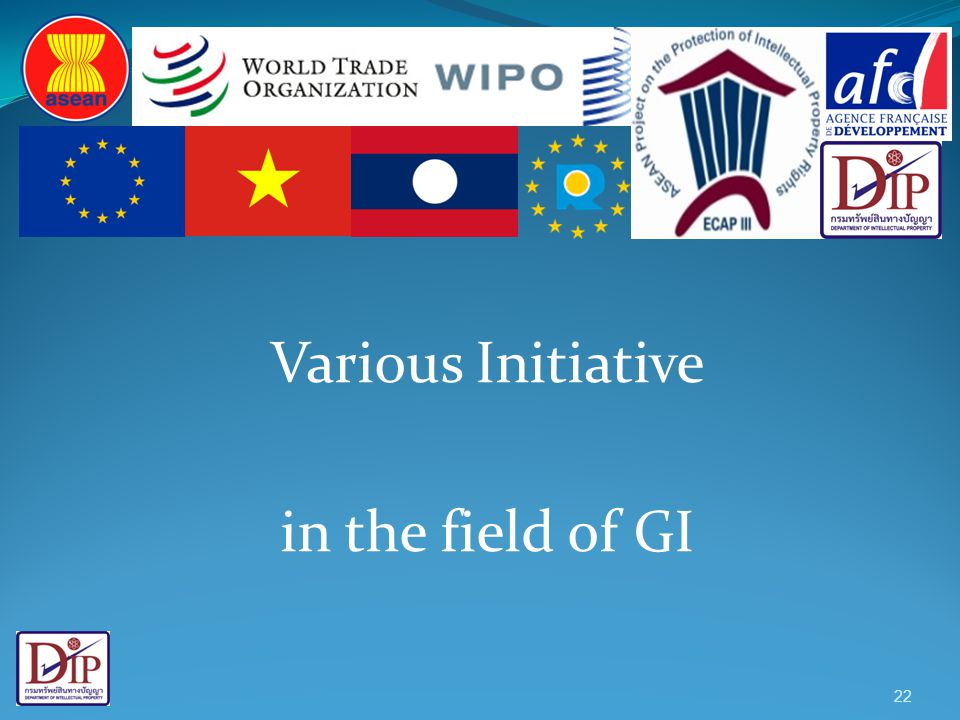 Various Initiative in the field of GI