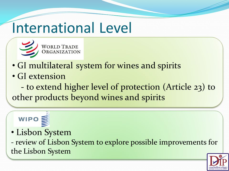 International Level GI multilateral system for wines and spirits