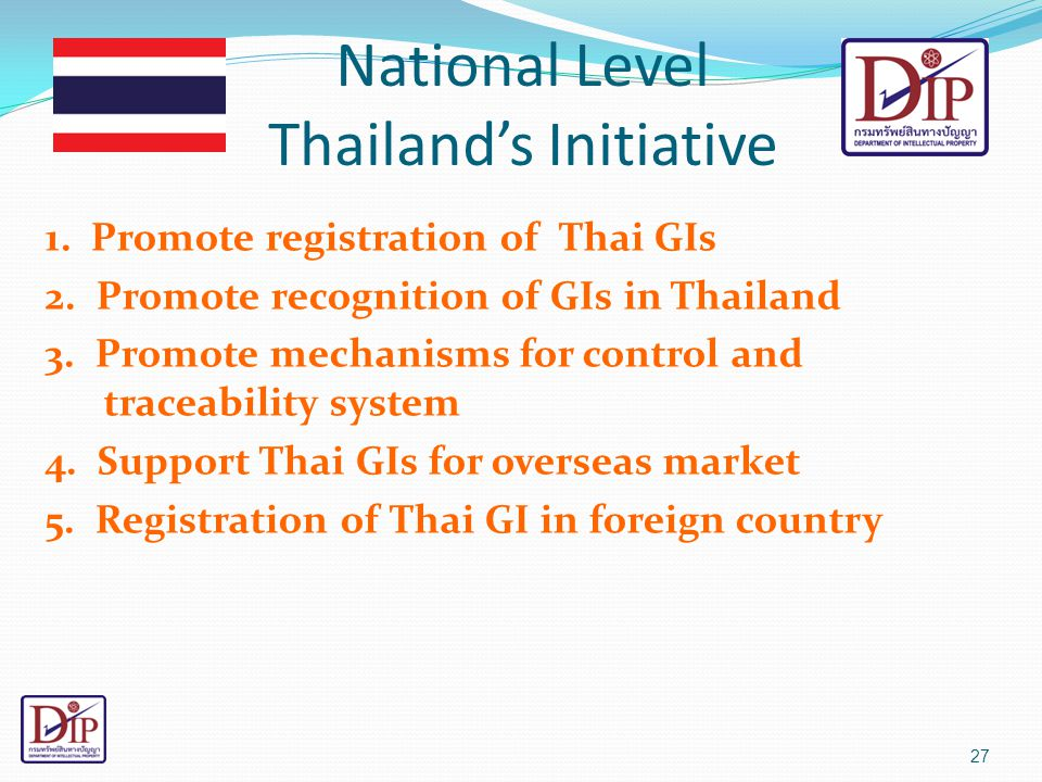 National Level Thailand's Initiative