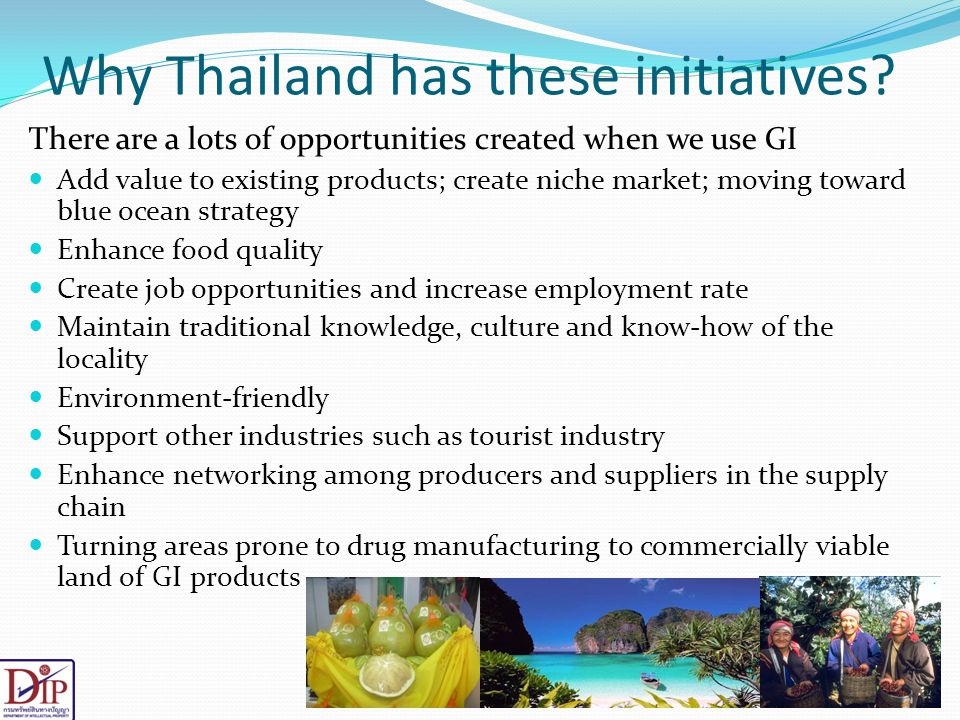 Why Thailand has these initiatives