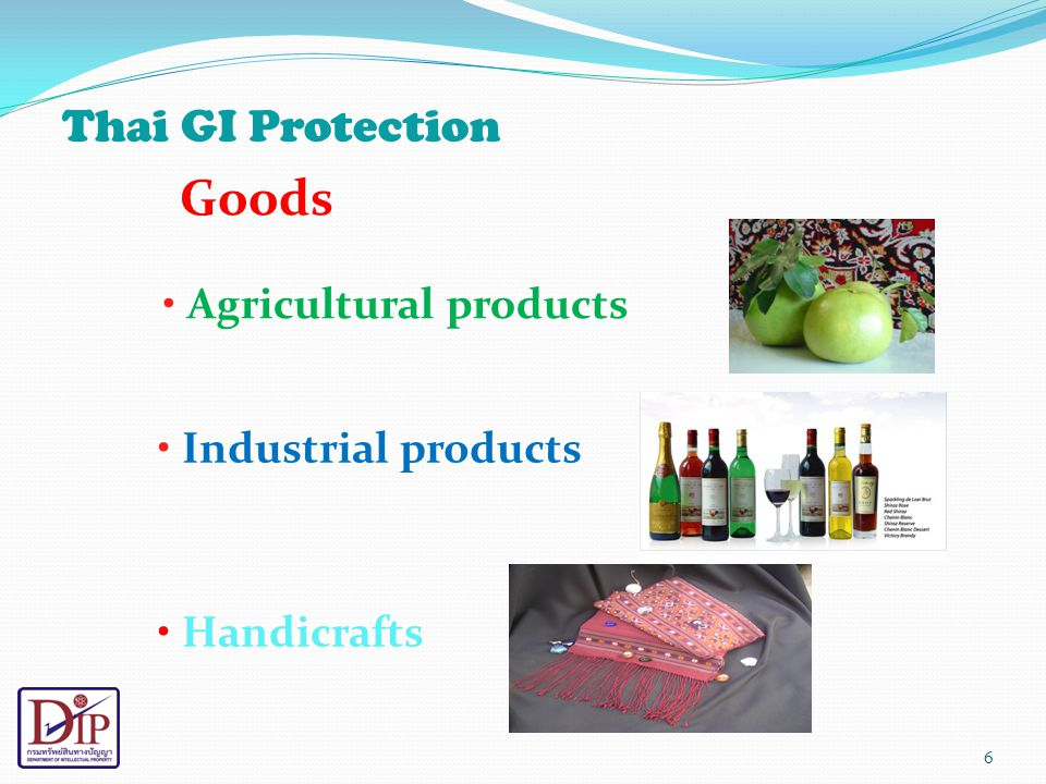 Goods Thai GI Protection Agricultural products Industrial products