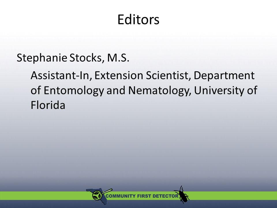 Editors Stephanie Stocks, M.S.