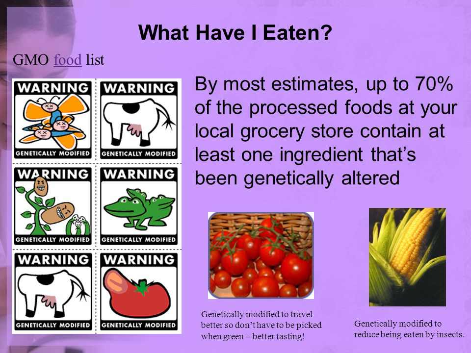 What Have I Eaten GMO food list.