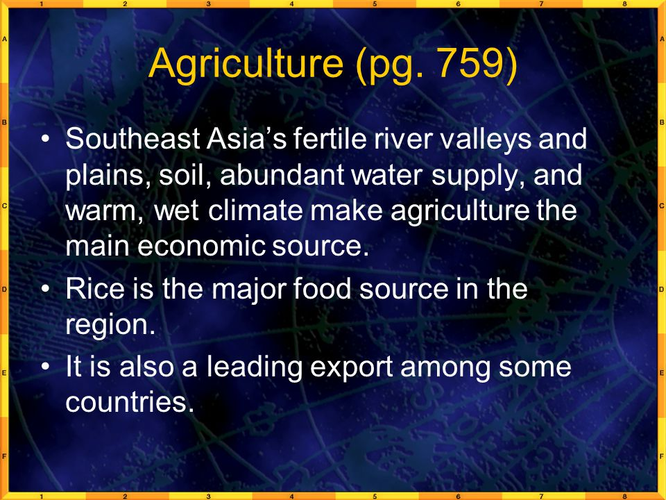 Agriculture (pg. 759)