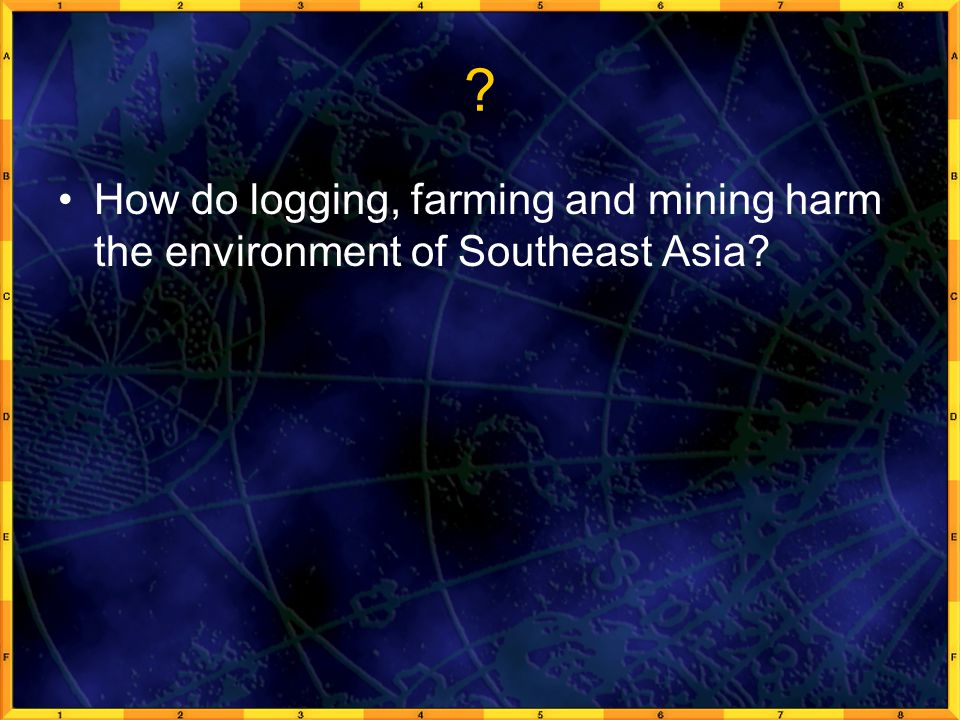 How do logging, farming and mining harm the environment of Southeast Asia