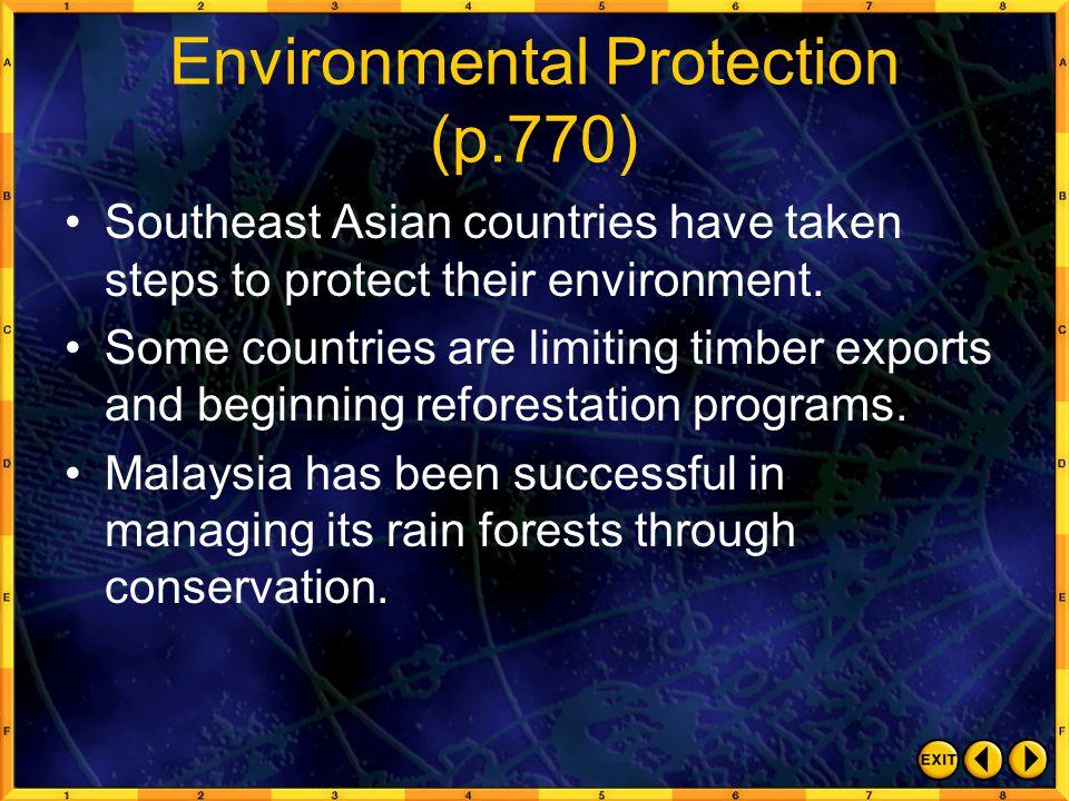 Environmental Protection (p.770)