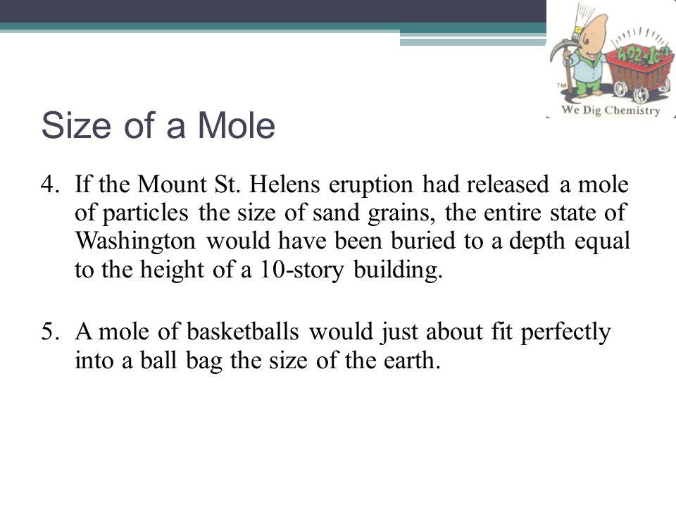 Size of a Mole