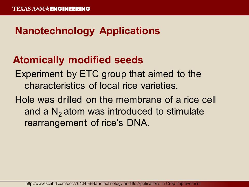 Atomically modified seeds