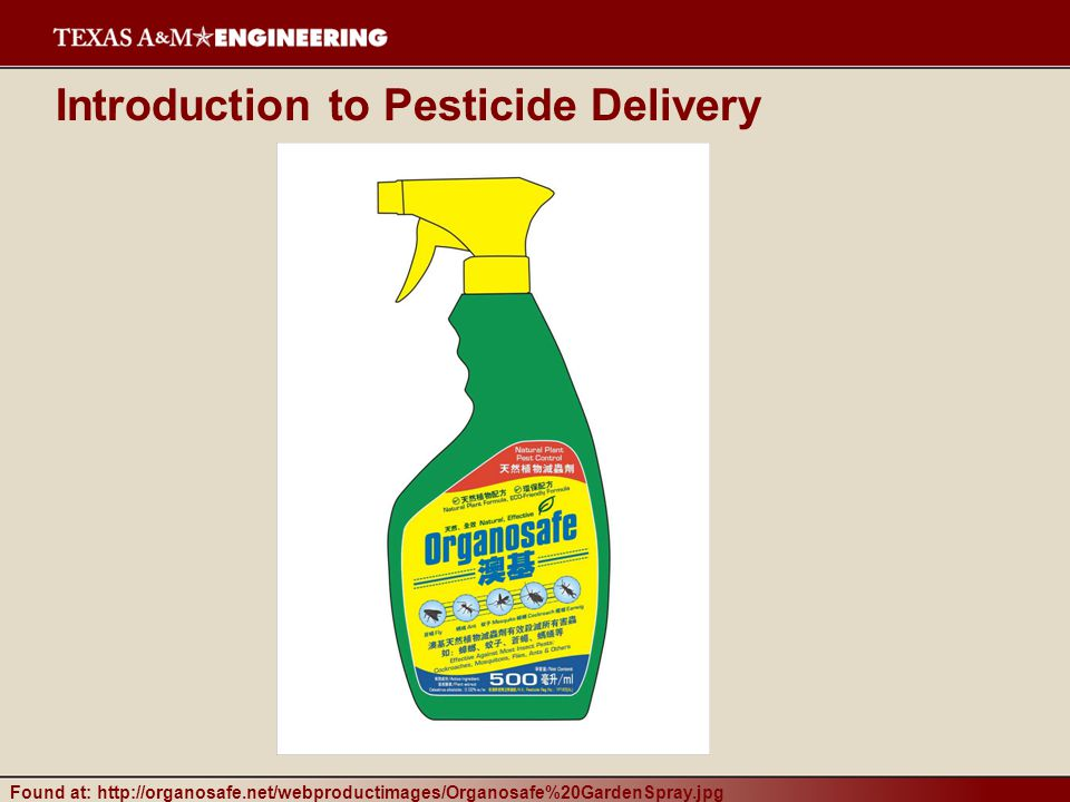 Introduction to Pesticide Delivery