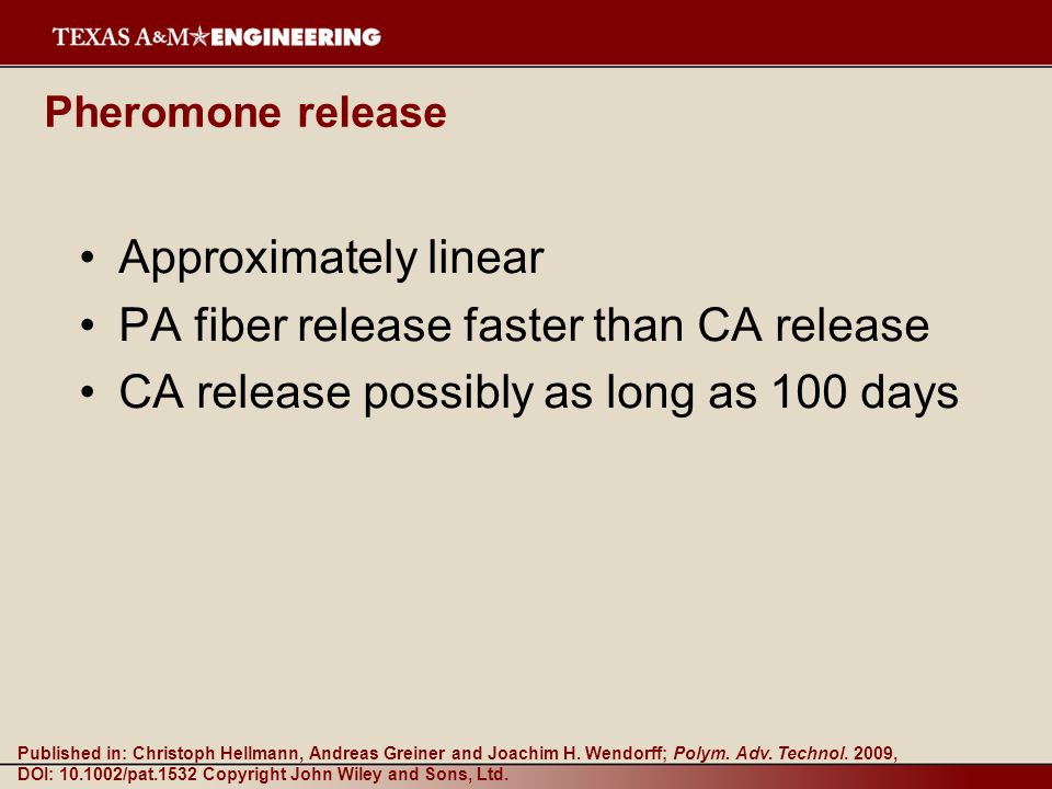 PA fiber release faster than CA release