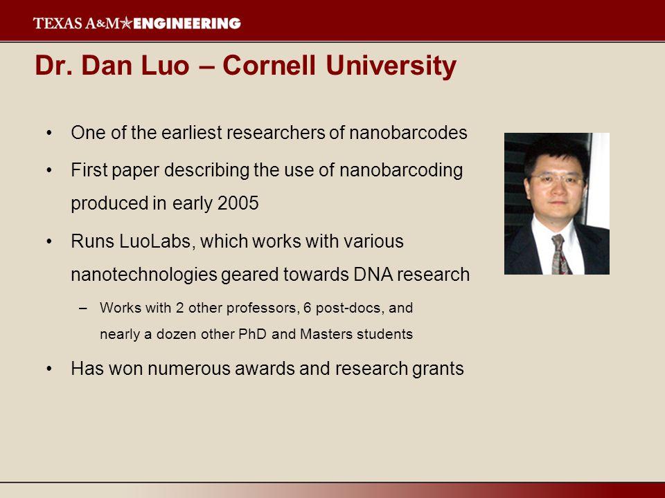 Dr. Dan Luo – Cornell University