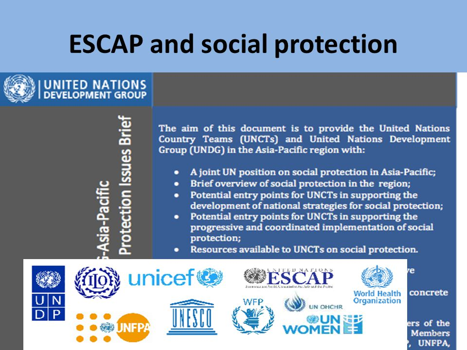 ESCAP and social protection