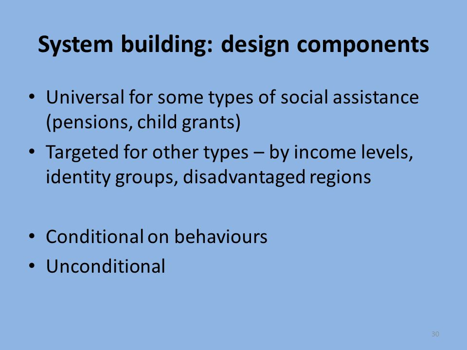 System building: design components