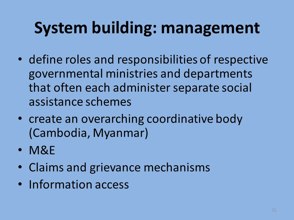 System building: management