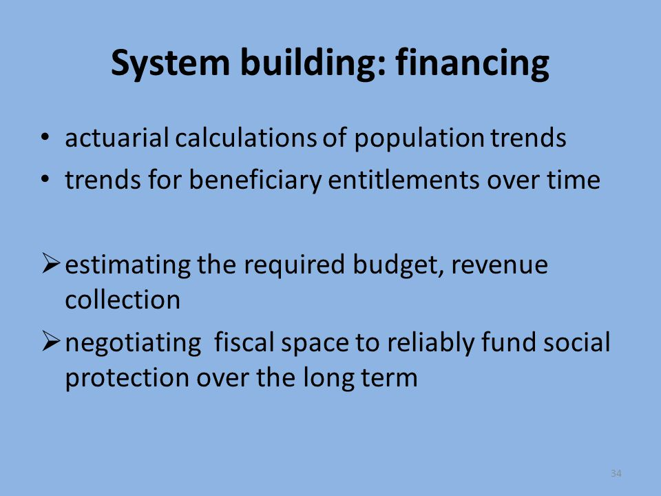 System building: financing